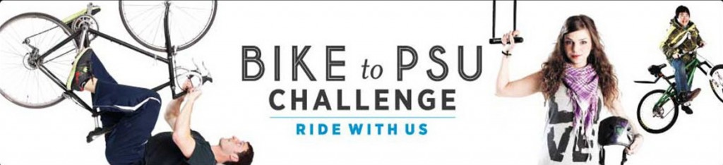 Bike-to-PSU-challenge banner graphic