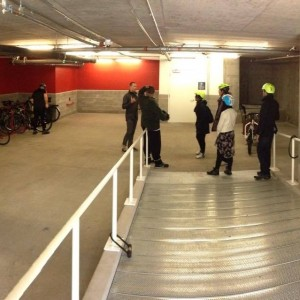 Newest indoor secure bike parking and commuter facility