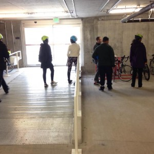 Ramp into PSU's newest jammed bike commuter facility.