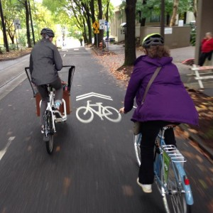 If the street doesn't have a bike lane it likely has sharrows