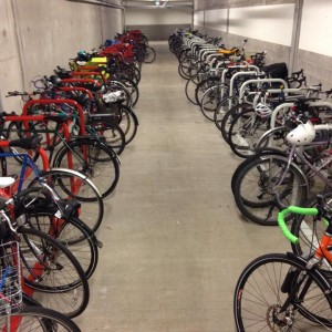 PSU's newest jammed bike commuter facility.
