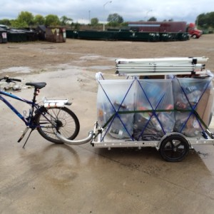 MSU Surplus & Recycling bike and trailer setup