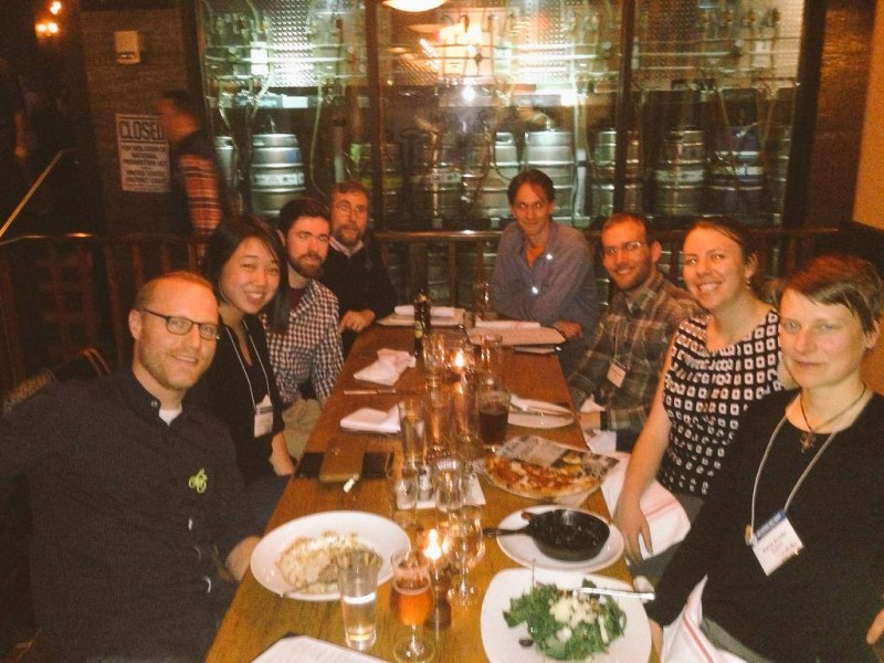 Campus bike programmers' get together in Washington, DC during the Natl. Bike Summit 2015.