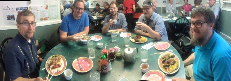 Lunch time afterwards with Steve Sanders, Jacob Adams, Aaron Goldbeck, Aaron Madrid and John Shrader