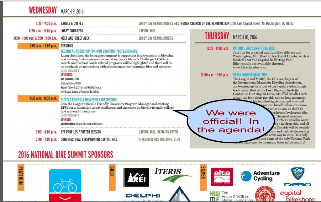We were in the official NBS agenda!