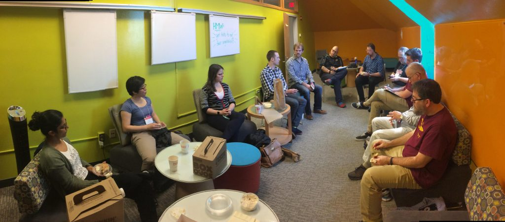 The informal BFU discussion session at UMD.