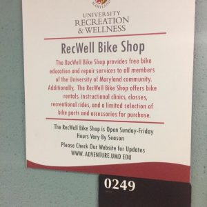 Tour of the UMD RecWell Bike Shop.