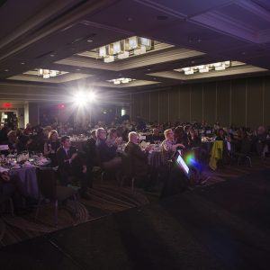 6 March 2017--Washington, DC--First day of National Bike Summit, evening; Banquet and awards dinner (photo courtesy League of American Bicyclists and Brian Palmer Photography)